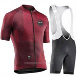 2019 Maillot Cyclisme Northwave Fonce Rouge Manches Courtes et Cuissard