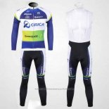2012 Maillot Cyclisme GreenEDGE Champion Oceania Manches Longues et Cuissard