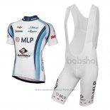 2014 Maillot Cyclisme MLP Team Bergstrasse Blanc Manches Courtes et Cuissard