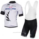2017 Maillot Cyclisme Quick Step Floors Blanc Manches Courtes et Cuissard