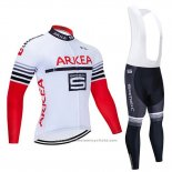 2020 Maillot Cyclisme Arkea Samsic Blanc Rouge Manches Courtes et Cuissard