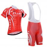 Maillot Cyclisme To The Fore Rouge et Blanc Manches Courtes et Cuissard