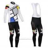 2014 Maillot Cyclisme Fox Cyclingbox Lumiere Blanc Manches Longues et Cuissard