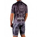 2016 Maillot Cyclisme Rock Racing Marron Manches Courtes et Cuissard