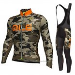 2017 Maillot Cyclisme ALE Camouflage Manches Longues et Cuissard