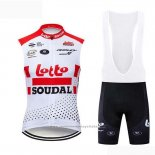 2019 Gilet Coupe-vent Lotto Soudal Blanc Rouge