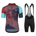 2020 Maillot Cyclisme Assos Fastlane Wyndymilla Rouge Bleu Manches Courtes et Cuissard