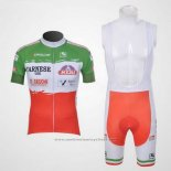 2011 Maillot Cyclisme Giordana Rouge et Vert Manches Courtes et Cuissard