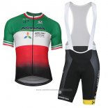 2018 Maillot Cyclisme Astana Champion Italie Manches Courtes et Cuissard