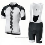 2018 Maillot Cyclisme Look Noir Blanc Manches Courtes Cuissard