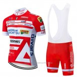 2019 Maillot Cyclisme Androni Giocattoli Orange et Blanc Manches Courtes et Cuissard