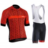 2019 Maillot Cyclisme Northwave Rouge Manches Courtes et Cuissard