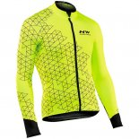 Maillot Cyclisme Northwave Jaune Manches Longues et Cuissard