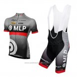 2013 Maillot Cyclisme MLP Team Bergstrasse Gris Manches Courtes et Cuissard