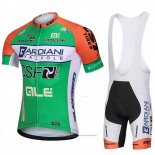 2018 Maillot Cyclisme Bardiani Csf Vert Manches Courtes Cuissard
