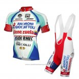 2014 Maillot Cyclisme Androni Giocattoli Blanc Manches Courtes et Cuissard