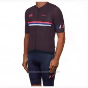 2019 Maillot Cyclisme Maap Nationals Mulberry Marron Manches Courtes et Cuissard