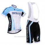 Maillot Cyclisme To The Fore Azur et Blanc Manches Courtes et Cuissard