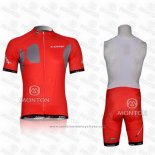 2011 Maillot Cyclisme Look Rouge Manches Courtes et Cuissard