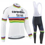 2019 Maillot Cyclisme UCI Mondo Champion Corendon Circus Manches Longues et Cuissard