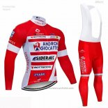 2019 Maillot Cyclisme Androni Giocattoli Rouge Blanc Manches Longues et Cuissard