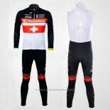 2011 Maillot Cyclisme Radioshack Champion Suisse Manches Longues et Cuissard