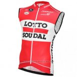 2016 Gilet Coupe-vent Lotto Rouge et Blanc