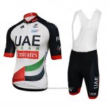 2018 Maillot Cyclisme UCI Monde Champion Leader Uae Blanc Manches Courtes et Cuissard