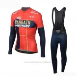 2019 Maillot Cyclisme Bahrain Merida Rouge Manches Longues et Cuissard(2)