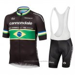 2019 Maillot Cyclisme Cannondale Shimano Champion Brazil Manches Courtes et Cuissard