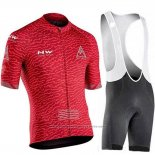 2019 Maillot Cyclisme Northwave Rouge Manches Courtes et Cuissard(2)