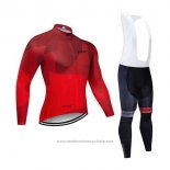 2020 Maillot Cyclisme Northwave Rouge Manches Longues et Cuissard