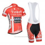 2014 Maillot Cyclisme Tinkoff Saxo Bank Champion Danemark Manches Courtes et Cuissard
