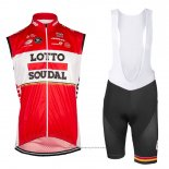 2017 Gilet Coupe-vent Lotto Soudal Rouge