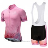 2018 Maillot Cyclisme Sobycle Rose Manches Courtes et Cuissard