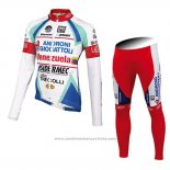 2014 Maillot Cyclisme Androni Giocattoli Blanc Manches Longues et Cuissard