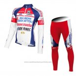 2015 Maillot Cyclisme Androni Giocattoli Blanc Manches Longues et Cuissard