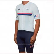 2019 Maillot Cyclisme Maap Nationals Blanc Manches Courtes et Cuissard