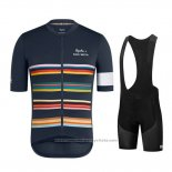 2019 Maillot Cyclisme Paul Smith Rapha Fonce Azul Manches Courtes et Cuissard
