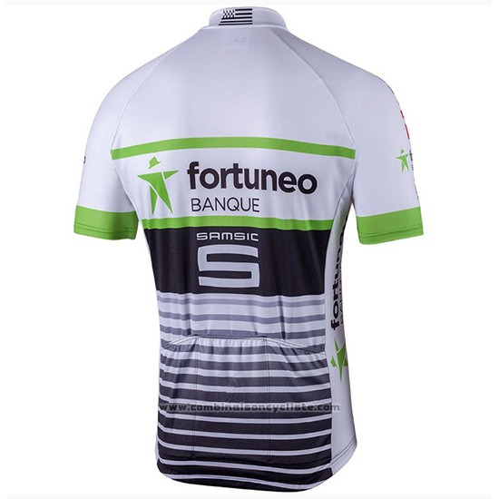 2018 Maillot Cyclisme Fortuneo Samsic Blanc Manches Courtes et Cuissard